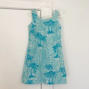 Vintage Lilly Giraffe And Palm Print Shift Dress
